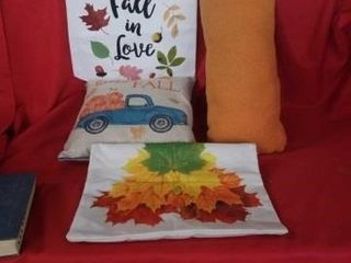 THROW PIllOWS  PIllOW CASE AND A ClOTH HANGING