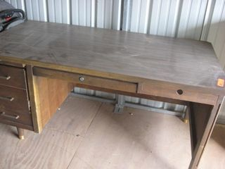 Walnut office desk
