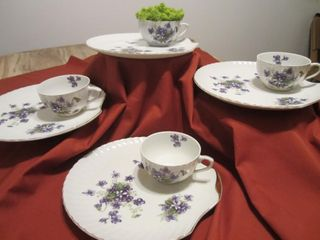 Bone china snack set