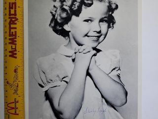 Autographed Shirley Temple photo
