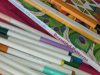 Adult Coloring Books with Markers  3 books in total