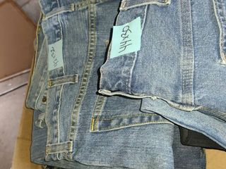 Men s Jeans  Sizez 42 x 32 to 44 x 30  5 pair 42 x 32  3 pair 44 x 30  1 pair Slacks in 44 x 30