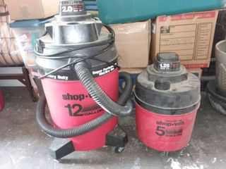 Shop Vac 12 Gallon with 5 Gallon Shop Vac No Hose on 5 Gal