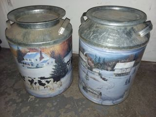 Milk Cans lot of 2