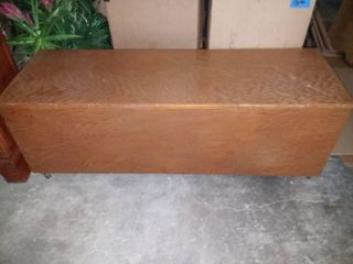 Rolling Wooden Storage Bench 17 x 50 x 17 in