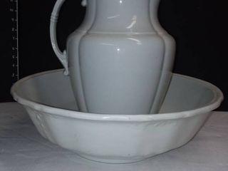 English Ironstone China Wash Bowl and Pitcher