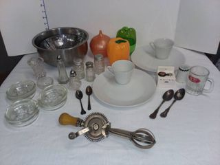 United Royalties Corp Vintage ladd Beater with Various Kitchen Items