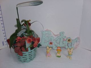 Napcoware Easter Basket Decor with Easter Decor