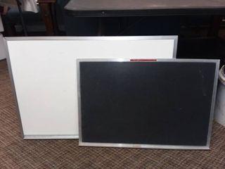 Whiteboard 24 x 36 in with Chalkboard 20 x 30 in