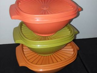 Vintage Tupperware Containers with lids