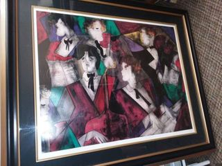 Grand Orchestra Framed Serial lithograph by linda le Kinff 36 5 x 43 in