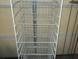 Wire Storage Drawers 7 Drawers 56  x 18  x 17