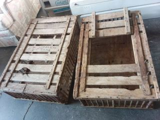 Wood Trap Cages lot of Two 10 x 23 x 35 Each