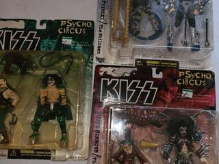 3 Kiss PSYCHO CIRCUS Figurines