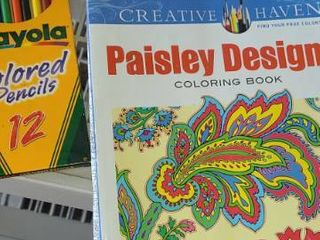 Adult Coloring Books with Colored Pencils  4 Books and 12   8 Pencils in box