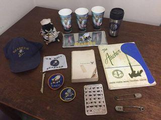 Vintage U S  Navy Memoribilia