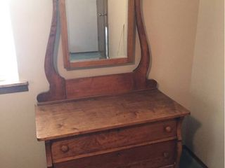 Antique 2 Drawer Dresser with Mirror