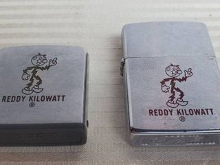 Reddy Kilowatt Zippo lighter and Rule