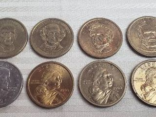 6 President  1 Coins  1979 Susan B  Anthony Dollar  and  3  2000 Sacagawea Dollar