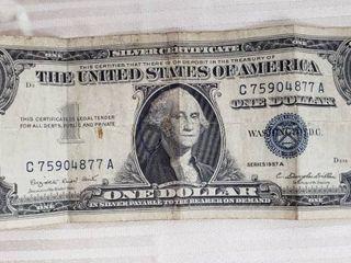 1 Silver Certificate Dollar   Series 1957A