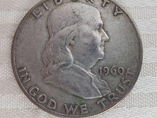 1960D Benjamin Franklin Half Dollar