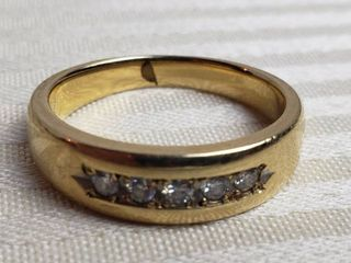 Men s 14K Gold Diamond Ring   7 grams TW