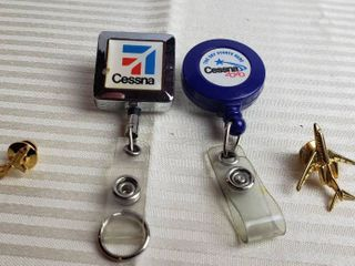 Cessna Badge Holders and 2Cessna Plane Tie Tacs