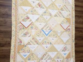Quilt  Hankies    46 in  x 57 in