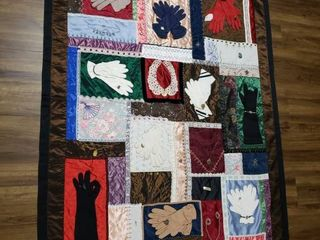 Quilt  Memory    48 in  x 64 in    Jewelry Attached