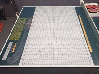 large Cutting Mat 59 in  x 36 in  and Rulers