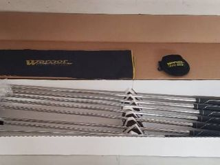 New Set of Mens Warrior DCP Groove Irons   left Hand   3 thru 9   P plus Bag Towel and Ball sack