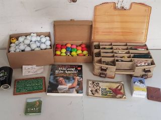 logo Golf Balls  Bright Colored Golf Balls  Storage Tote w  Golf Accessories  Golf Books  and other Accessories