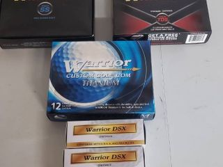 3 Boxes of New or like New Warrior Golf Balls plus 3 Sleeves of Golf Balls