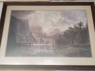 Framed Print   The Sierra Nevada in California by Albert Bierstadt   44 x 32 in