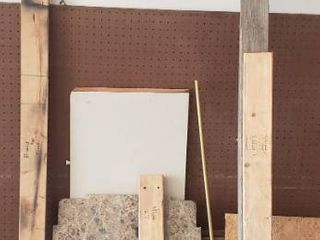 Wood Boards   includes 4 x 8 ft  Sheets of Peg Board