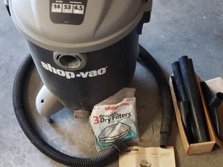 Shop Vac 14 gal  4 5HP w  Accessories