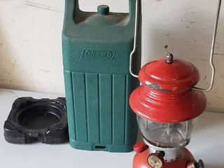 Coleman lantern   Model 200A   plastic case and extra mantles   made 02 1956