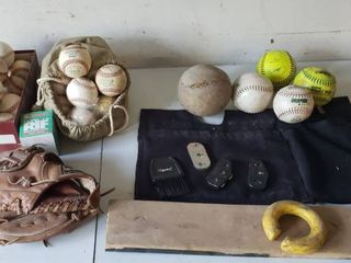 Baseball Softball Equipment   Balls  Mitt  Pitchers Mound  and Umpire Tools