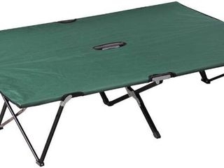 Outsunny Two Person Double Wide Folding Camping Cot  Retail 87 49