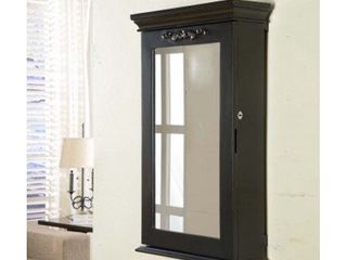 Morris Black Wall Mounted Jewelry Armoire Box with lock  Retail 203 29