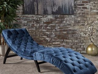 Garret Tufted Velvet Chaise lounge by Christopher Knight Home  Retail 252 42