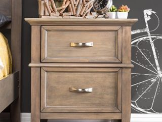 Furniture of America Hyla Transitional Oak Solid Wood Nightstand  Retail 182 49