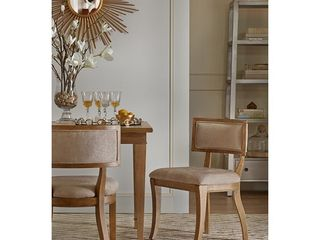 Madison Park Signature Marie Beige  light Natural Dining Chair  Set of 2    20 625 w x 21 5 d x 31 375 h  2  Retail 398 99