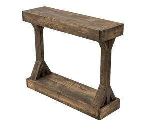 Barb Small Console Table Solid Wood