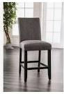 Furniture of America Shap Rustic linen Fabric Counter Chairs  Set of 2  Retail 267 49