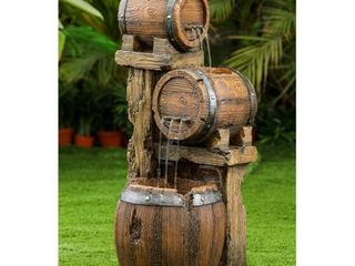 Wood Barrel Fountain  Retail 222 99
