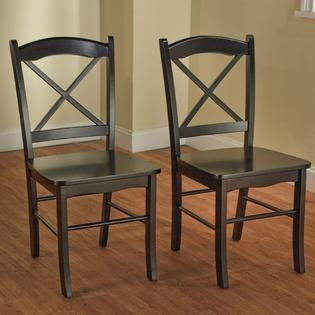 Simple living Country Cottage Black Dining Chairs  Set of 2  Retail 125 99