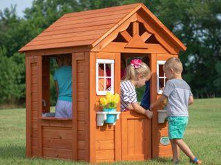 Backyard Discovery Cedar Wood Playhouse