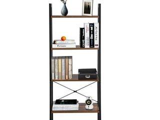 4 Tiers Industrial ladder Vintage Bookshelf  Storage Rack Shelf
