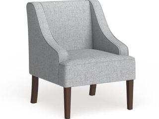 Porch   Den lyric light Blue Swoop Arm Accent Chair  Retail 148 49